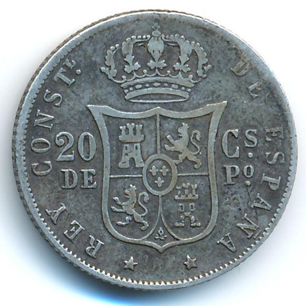 Филиппины, 20 сентимо (1885 г.)