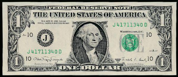 США, 1 доллар (1988 г.)