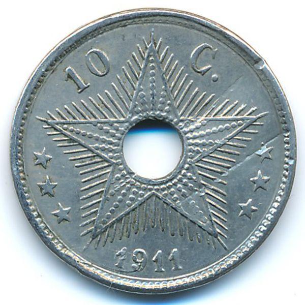 Бельгийское Конго, 10 сентим (1911 г.)