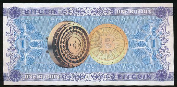 Сувениры, 1 биткоин