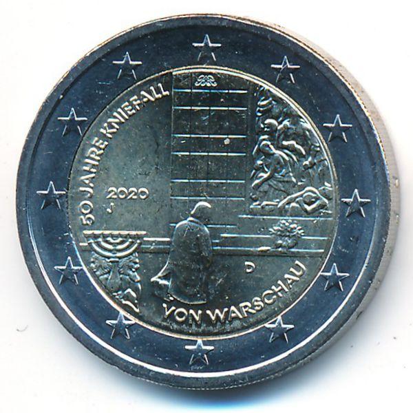 Германия, 2 евро (2020 г.)
