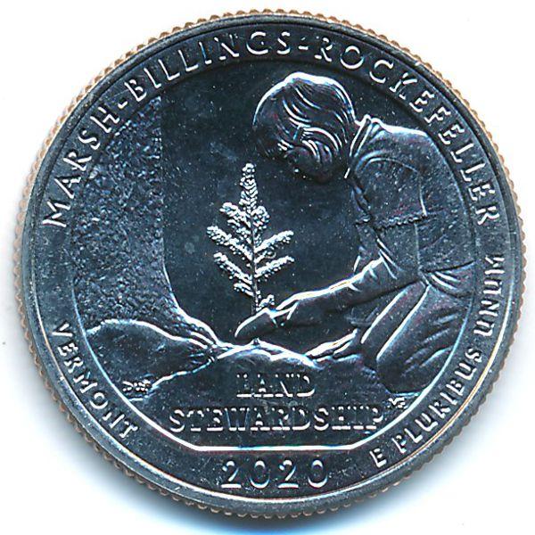 США, 1/4 доллара (2020 г.)