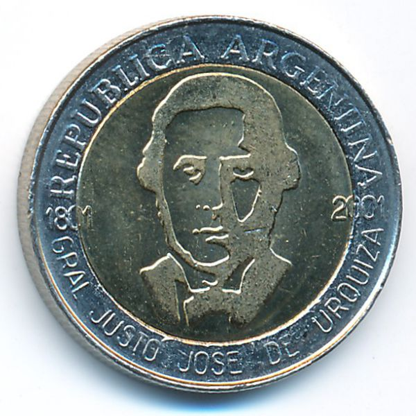 Аргентина, 1 песо (2001 г.)