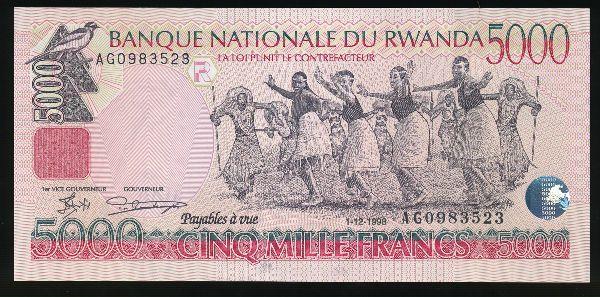 Руанда, 5000 франков (1998 г.)