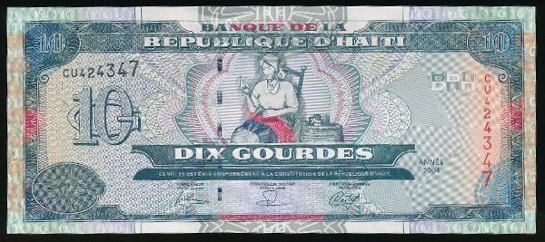 Гаити, 10 гурдов (2004 г.)