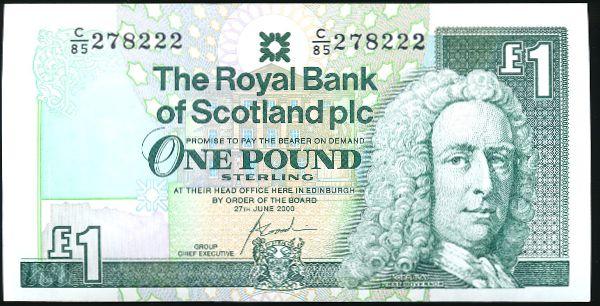 Шотландия, 1 фунт (2000 г.)