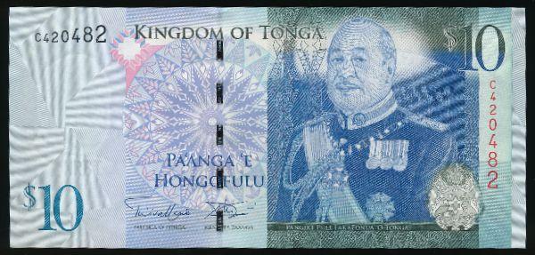Тонга, 10 паанга (2009 г.)