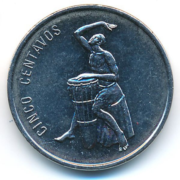 Доминиканская республика, 5 сентаво (1989 г.)