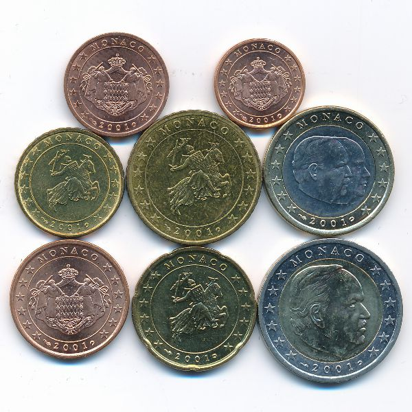 Монако, Набор монет (2001 г.)