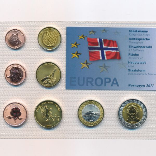 Норвегия, Набор монет (2011 г.)