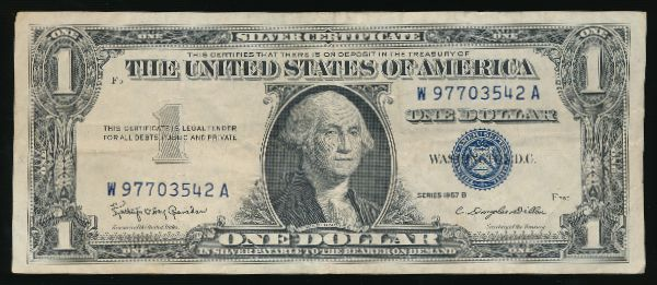 США, 1 доллар (1957 г.)