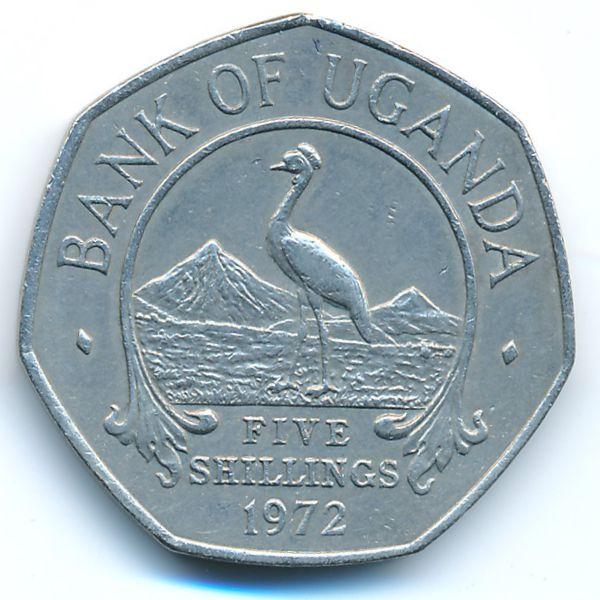 Уганда, 5 шиллингов (1972 г.)