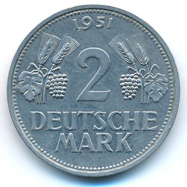 ФРГ, 2 марки (1951 г.)