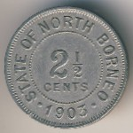 North Borneo, 2 1/2 cents, 1903–1920