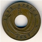 East Africa, 1 cent, 1922–1935