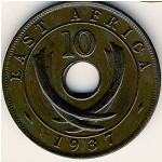 East Africa, 10 cents, 1937–1941