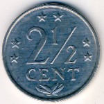 Antilles, 2 1/2 cents, 1979–1985