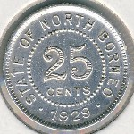 North Borneo, 25 cents, 1929