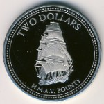 Pitcairn Islands, 2 dollars, 2010