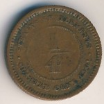 Straits Settlements, 1/4 cent, 1889–1901