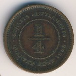 Straits Settlements, 1/4 cent, 1904–1908