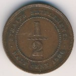 Straits Settlements, 1/2 cent, 1904–1908