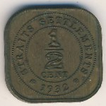 Straits Settlements, 1/2 cent, 1932