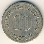 Germany, 10 pfennig, 1873–1889