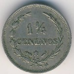 Dominican Republic, 1 1/4 centavos, 1882–1888
