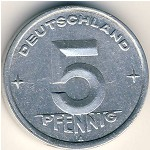 German Democratic Republic, 5 pfennig, 1948–1950