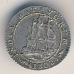 Netherlands East Indies, 1/4 gulden, 1802