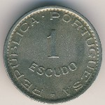 Sao Tome and Principe, 1 escudo, 1951