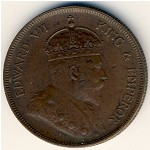 Straits Settlements, 1 cent, 1903–1908