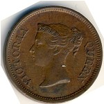 Straits Settlements, 1/4 cent, 1845