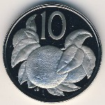Cook Islands, 10 cents, 1972–1983