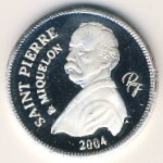 Saint Pierre and Miquelon, 1/4 euro, 2004