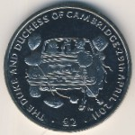 British Indian Ocean Territory, 2 pounds, 2012