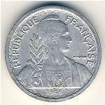 French Indo China, 5 cents, 1946