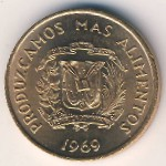 Dominican Republic, 1 centavo, 1969