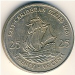 East Caribbean States, 25 cents, 1981–2000