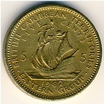 East Caribbean States, 5 cents, 1955–1965