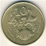 Cyprus, 10 cents, 1983