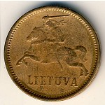 Lithuania, 2 centai, 1936