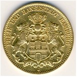Hamburg, 10 mark, 1890–1913