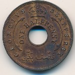 British West Africa, 1/2 penny, 1952