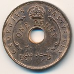 British West Africa, 1 penny, 1952