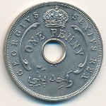 British West Africa, 1 penny, 1951