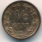Нидерланды, 1/2 цента (1883–1886 г.)