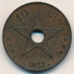 Congo free state, 10 centimes, 1887–1894
