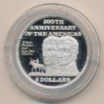 Багамские острова, 5 долларов (1992 г.)